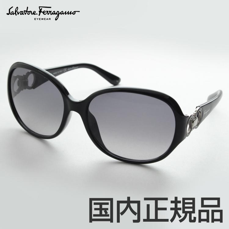 FERRAGAMO フェラガモ SF601S-001 サングラス イタリア製 女性向き 大ぶり 丸み 綺麗 デザイナー ガンチーニ 新品 新作 海外 ブランド 高級 正規品