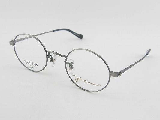 [JOHN LENNON] ジョンレノン メガネ A101-4 丸メガネ ベータチタン 銀 日本製 クラシカル 昭和 柔軟素材 フィット 眼鏡 レトロ 専用ケース