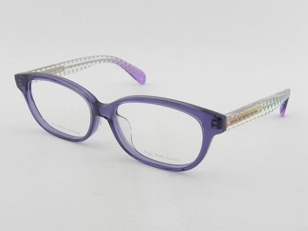 [MARC BY MARC JACOBS] マークバイマークジェイコブス 0050F-6HZ メガネ 軽量 度付可 専用ケース付属 MARCBYMARC 水玉 パープル 新品 めがね 眼鏡 レディース 女性 かわいい 正規品