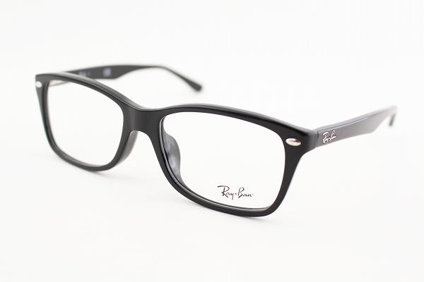 レイバン 眼鏡 RX5228F 2000 55サイズ メガネ バネ式 定番 スクエア 黒縁 めがね 伊達メガネ ユニセックス 度付き可 フルフィット 日本人向け RayBan Ray-Ban 国内正規品 メーカー保証書付き 送料無料