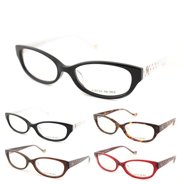 【レンズセット】[CECIL McBEE] セシルマクビー ■レンズセット■ 度付き 7019 度なし 全2色 メガネ レンズ レディース 度なし ロゴ 黒縁 ホワイト 新品 めがね ケース付き 伊達眼鏡 かわいい 正規品
