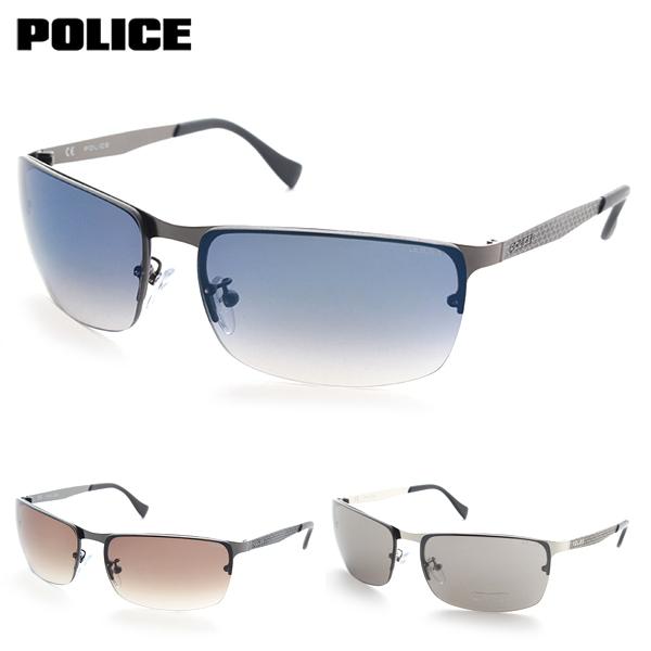 [POLICE] ポリス S-8986K サングラス きれいめ 軽量 ミラ- POLICE クール ワイルド カーブ メンズ 紫外線カット 新品 めがね スマート デザイナー シンプル 正規品 pkmns pkmns