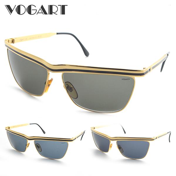 [VOGART] DS-3024 サングラス 紫外線カット イタリア ヴォガート デザイナー ゴールド デッドストック 新品 ケース付 年代物 レアもの 価値 UVカット 正規品