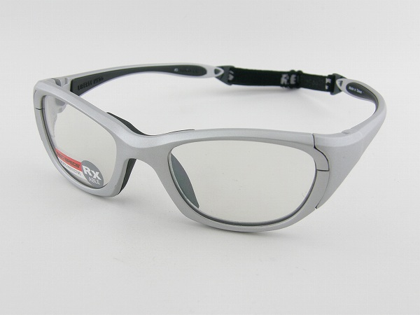 [REC SPECS] レックスペックス MX-30-PLSI-53 ゴーグル シルバー 銀 送料込 安全 ストラップベルト ズレにくい 新品 スポーツ 部活 球技 アイガード 眼を保護 正規品