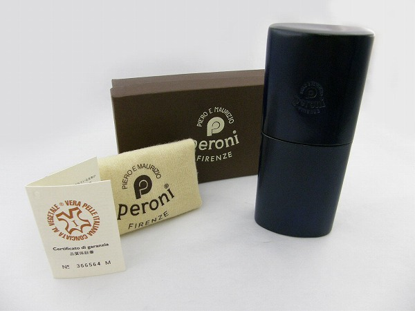 送料無料 [Peroni] ペローニ ペローニ-ケース-INROU-ネイビー 新品 イタリア製 職人 ハンドメイド 小物入れ 筆箱 正規品