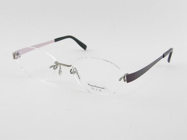 [Kazuo Kawasaki] カズオカワサキ メガネフレーム MP-714-FQ76-50 川崎和男 ペイリンで話題 しなやか ベータチタン 新品 専用ケース付 日本製 度付可 メガネ 眼鏡 正規品