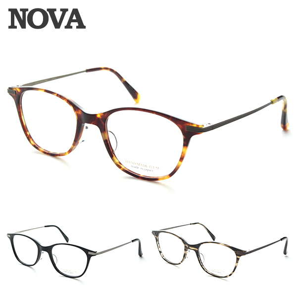 [NOVA] ノヴァ H-5014 度付き メガネフレーム 国産 TITAN クラシック ノバ HAND MADE おしゃれ JAPAN 高品質 ユニセックス 新品 めがね 日本製 シンプル 伊達眼鏡 レトロ 正規品