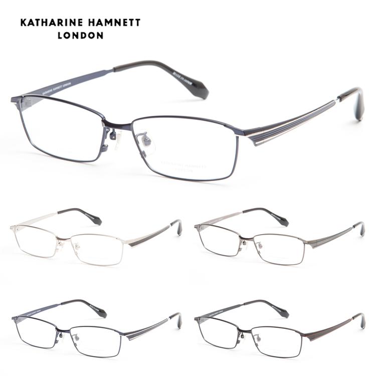 【送料無料】 KATHARINE HAMNETT キャサリンハムネット KH9140 3 55 メガネ フレーム メタル スクエア 度付 度なし ビジネス メンズ レディース 新品 本物 紫外線カット 男性 女性 正規品
