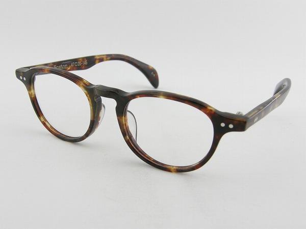 [tsetse] ツェツェ Boston-5-47 メガネフレーム デミ 茶 ボストン シンプル 度付可 ケース付 ブラウン セル 新品 眼鏡 レトロ めがね 男女兼用 クラシカル 正規品