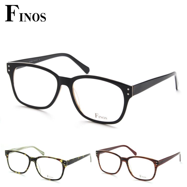 【レンズセット】FINOS フィノス SLA-N006 メガネ レンズセット 伊達眼鏡