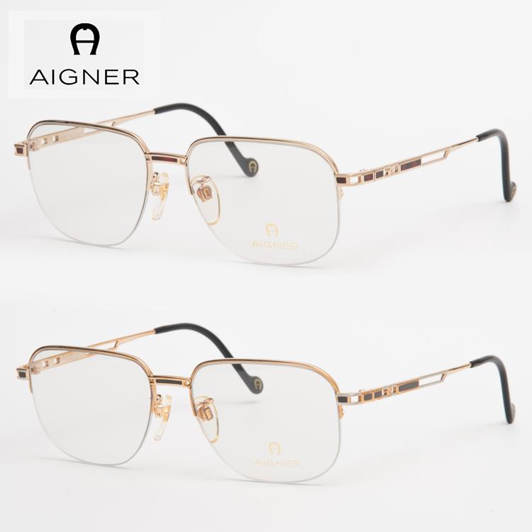 【送料無料】 AIGNER アイグナー メガネフレーム 眼鏡 AGF401 56サイズ AIGNER ナイロール セミオート 新品 本物 クラシック メンズ レディース ビジネス 正規品