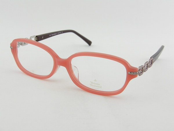 [Vivienne Westwood] ヴィヴィアンウエストウッド 7041-PI メガネ ピンク Vivienne Westwood 女子 パステルカラー チェーン 新品 モチーフ 眼鏡 バッグ めがね オーブ