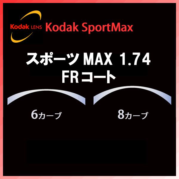 [Kodak](フチナシ) スポーツMAX1.74 FRコート(撥水) UVカット 撥水コート標準装備 新品 安心のコダックブランド 正規品