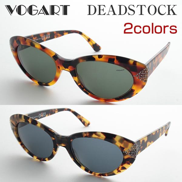[VOGART] DS-3041ST サングラス 紫外線 ヴォガート 高級 細身 デザイナー イタリア製 デッドストック 新品 ケース付 年代物 レアもの 価値 UVカット 正規品