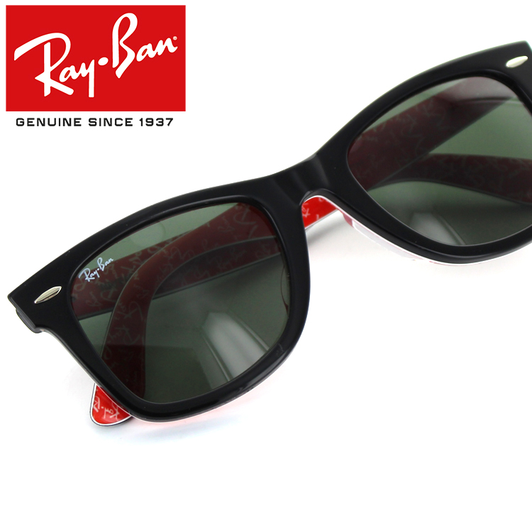 a0c9362ce Ray-Ban RayBan 2140F-1016 sunglasses new closer Wayfarer improved Edition  logo black fit ...