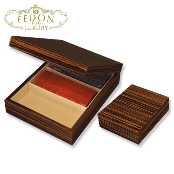 [FEDON] K-100-OPT-BOX-3 メガネケース 小物入れ フェドン コレクション 箱 木製 サングラス 天然 ウッド 職人 新品 プレゼント 贈答品 パーティー 携帯 iphon 正規品