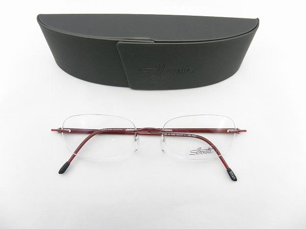 [Silhouette] シルエットSilhouette眼鏡 7635-41-6052 ネジ無しヒンジ 専用ケース付属CORORAMAメガネ眼鏡