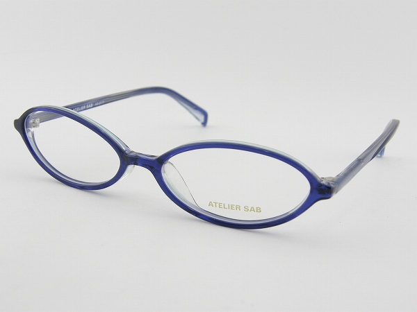 【レンズセット】[ATELIER SAB] アトリエサブ 度付メガネセット 2117-4 レンズ付 オフィス 薄型レンズ 新品 眼鏡 めがね オーバル 女子 事務作業 お泊り用 正規品