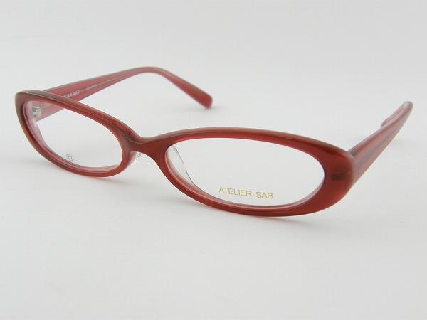 [ATELIER SAB] アトリエサブ 度付メガネセット 2089-3 レッド CUTE かわいい カジュアル 薄型レンズ 新品 眼鏡 めがね 愛され モテ 女子 正規品