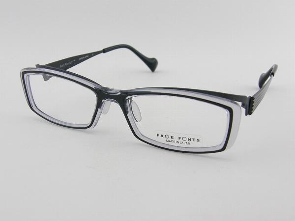 【レンズセット】【送料無料】【本数限定】 FaceFonts 118-01 メガネフレーム レンズセット フェイスフォント