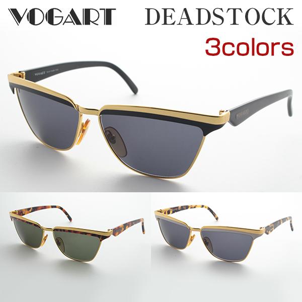 [VOGART] DS-3044 サングラス 紫外線 ヴォガート 高級 細身 デザイナー イタリア製 デッドストック 新品 ケース付 年代物 レアもの 価値 UVカット 正規品