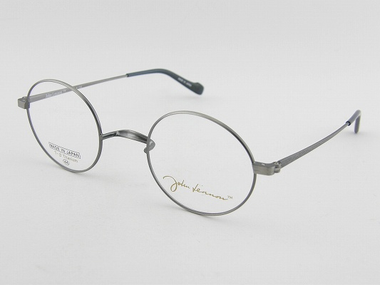 [JOHN LENNON] ジョンレノン メガネ A102-4 丸メガネ ジャパンメイド 日本製 クラシカル 昭和 ガンメタ 柔軟 軽量 眼鏡 レトロ 専用ケース