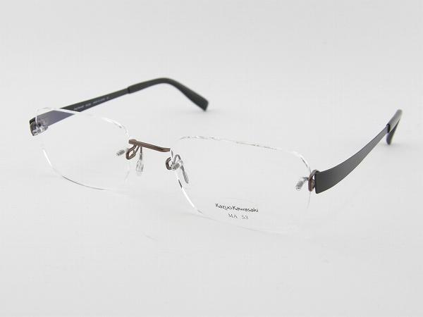 [Kazuo Kawasaki] カズオカワサキ メガネフレーム MP-714-MA23-53 川崎和男 ペイリンで話題 しなやか ベータチタン 新品 専用ケース付 日本製 度付可 めがね 眼鏡 正規品