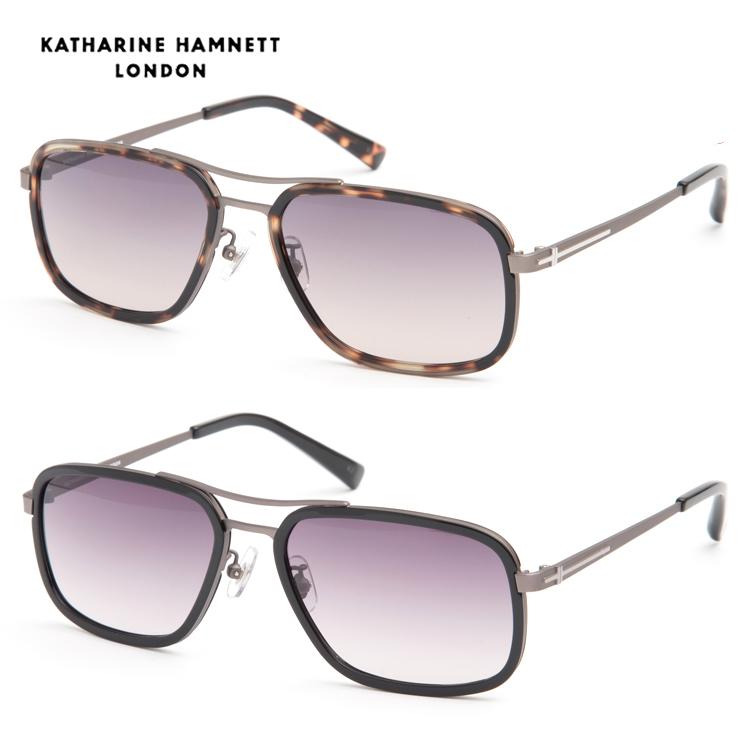 【送料無料】 KATHARINE HAMNETT キャサリンハムネット KH926 サングラス UVカット ワイルド メンズ 男性 セル 新品 本物 紫外線カット 紳士 セミオート セル 正規品