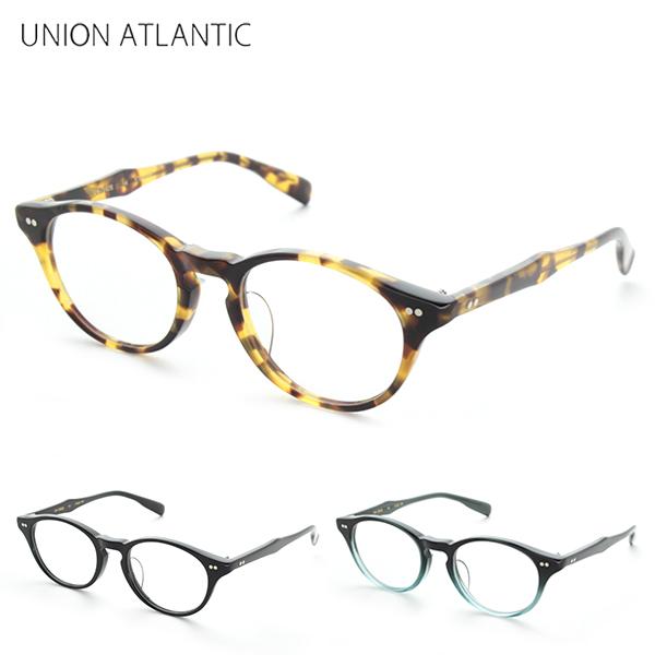 【送料無料】[UNION ATLANTIC] ユニオンアトランティック 度付き UA3605 全3色 メガネ ボストン クラシック 高品質 かしめ ブラウン 新品 めがね スマート ハンドメイド 手作り 正規品
