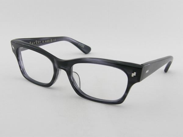 [tsetse×甚六作] TCL-003-5 メガネフレーム グレー 灰色 ウェリントン ツェツェ 高級感 度付可 シャープ 知的 新品 眼鏡 レトロ めがね 男女兼用 クラシカル 正規品