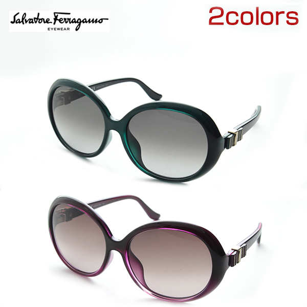 [FERRAGAMO, Ferragamo SF738SA case with sunglasses large Salvatore Ferragamo women's luxury round the top brand new genuine UV cut UV present overseas retro regular products.