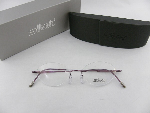 6778-6056-49 silhouette eyeglass frames [Silhouette, lighter brand new SEIKO1.67 ultra-thin lens with set purple real glasses titanium ITA glasses Dynamics only genuine case purple Yep_100