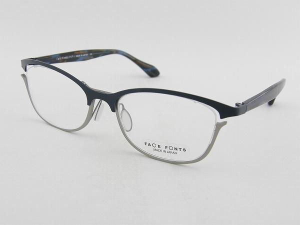 【レンズセット】【送料無料】【本数限定】 FaceFonts 308-04 メガネ ツートン レンズセット フェイスフォント