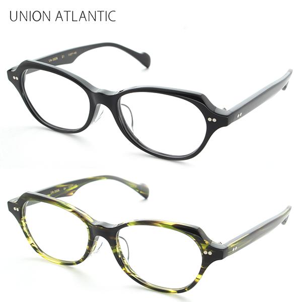 【送料無料】[UNION ATLANTIC] ユニオンアトランティック 度付き UA3606 全2色 メガネ クロセル クラシック 高級品 かしめ ブラック 新品 めがね スマート ハンドメイド 手作り 正規品