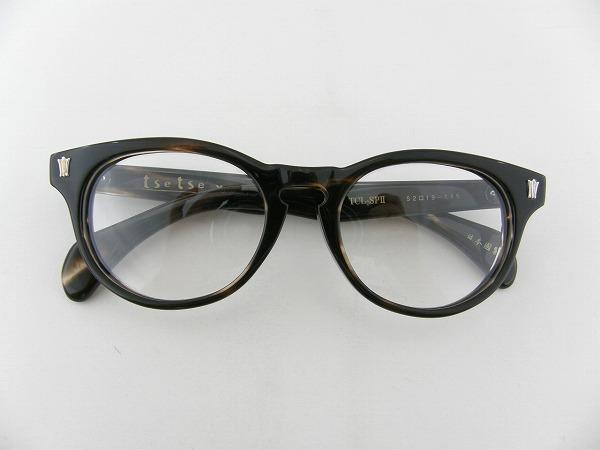 [tsetse×甚六作] TCL-SP2-2 メガネフレーム ブラウン 茶 ボストン ツェツェ 昭和 高級感 伊達メガネ 度付き可 新品  眼鏡 レトロ めがね 男女兼用 クラシカル 正規品