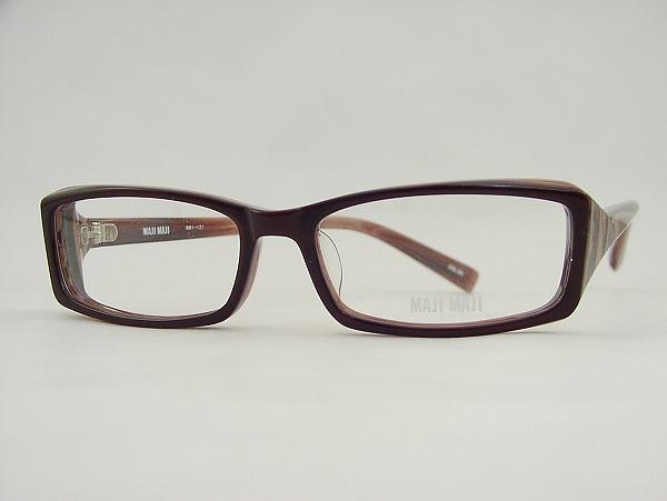 包含1.56透镜的[MAJI MAJI]真的真的MM1-121-2新货棕色大理石划算的舒适的UV cut眼镜广场正规的物品透镜安排没镜片的眼镜眼镜架子