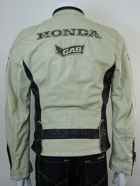 Gas / Honda HONDA-448002-CREAMBI-S-jacket Limited Edition now only bargain prices! Leather jacket brand new genuine SALE genuine