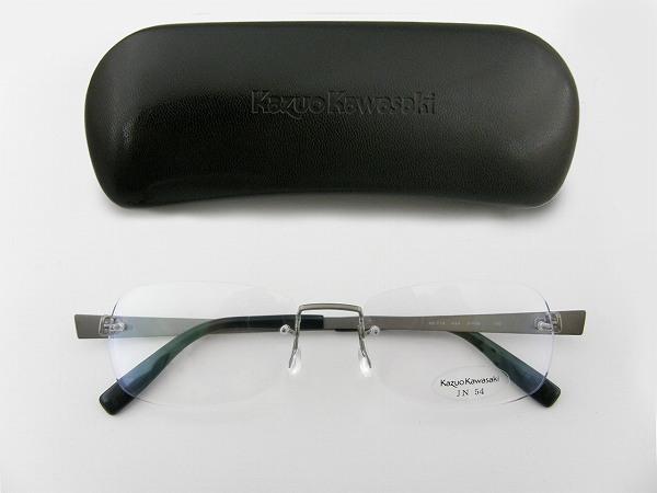 [Kazuo Kawasaki] カズオカワサキ メガネフレーム MP-714-JN34-54 川崎和男 ペイリンで話題 しなやか ベータチタン 新品  専用ケース付 日本製 度付可 めがね 眼鏡 正規品
