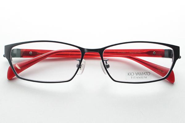 [KIO YAMATO]没有kioyamato度的KT-436J眼镜国产发条铰链纤细商务日本制造原始物福井人新货眼镜细长鼻子垫衬没镜片的眼镜简单正规的物品