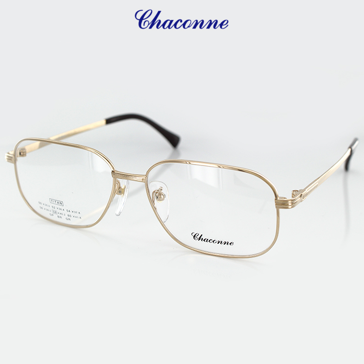 22ee760459 With the Chaconne glasses frame PC glasses blue light cut degree for the  chaconne titanium light weight glasses frame C-3605 GP 58 size square gold  men man ...