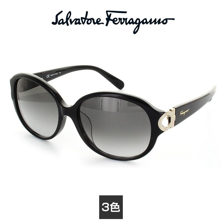 【送料無料】【国内正規品】サルバトーレフェラガモ サングラス SF801SA 59サイズ ブラック Salvatore Ferragamo 女性 レディースUVカット 紫外線カット