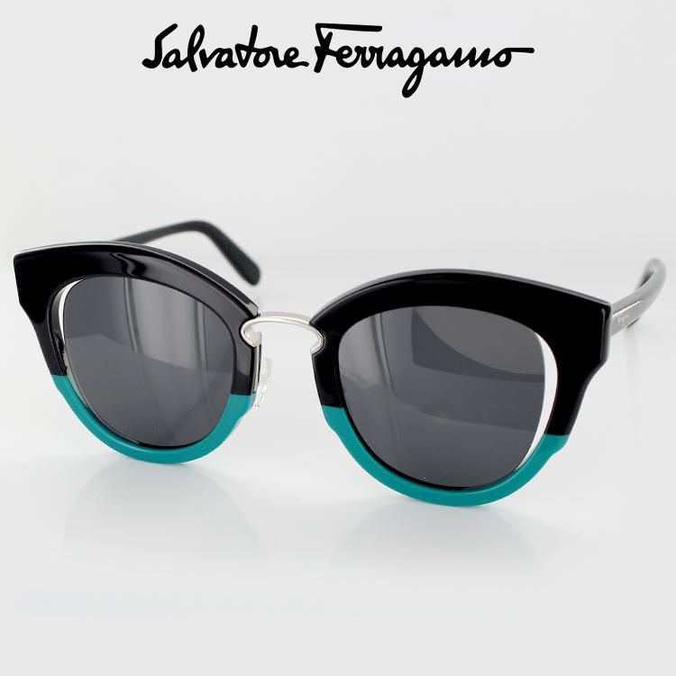 サングラスサルバトーレフェラガモ SF830S 967 48サイズ ボストン ブラック レディース 女性用 Salvatore Ferragamo UVカット 紫外線カット 国内正規品 送料無料