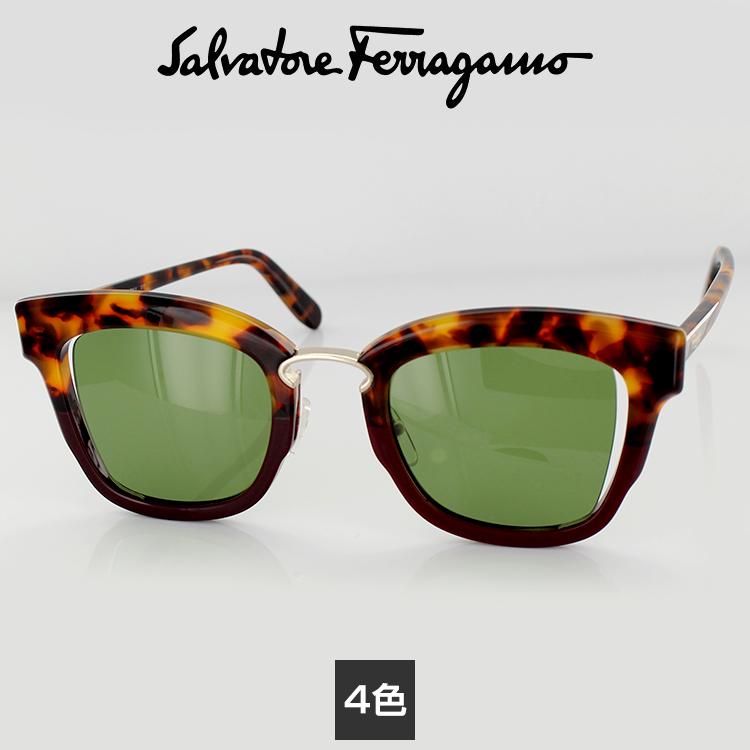 サングラスサルバトーレフェラガモ SF886S 48サイズ ウェリントン ブラック グレー レディース 女性用 Salvatore Ferragamo UVカット 紫外線カット 国内正規品 送料無料