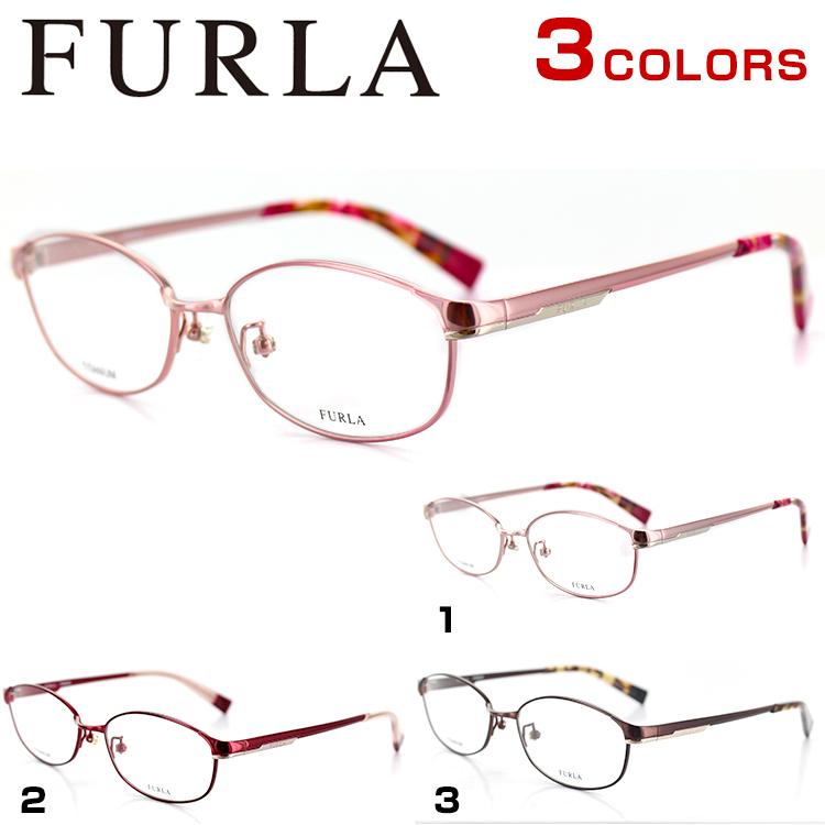 フルラ チタン メガネフレーム VFU270J 53サイズ スクエア レディース 女性用 FURLA 眼鏡フレーム PCメガネ ブルーライトカット 度付き可 【国内正規品】