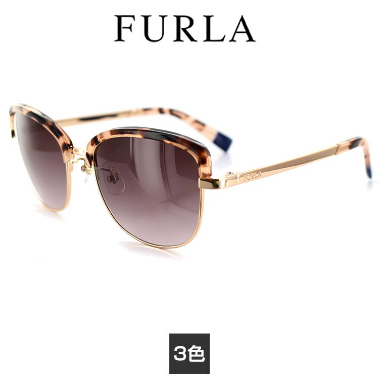 【送料無料】フルラ サングラス SFU-223J 54サイズ ブロー グレーデミ ゴールド レディース 女性用 FURLA サングラス UVカット UV予防 紫外線カット 紫外線予防【国内正規品】