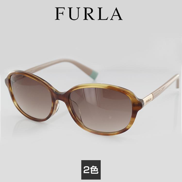 【送料無料】フルラ サングラス SFU285J 54サイズ スクエア レディース 女性用 FURLA UVカット 紫外線カット セルフレーム