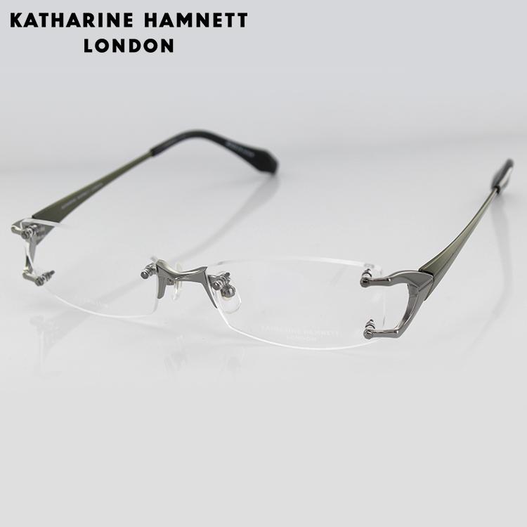 【送料無料】【日本製】キャサリンハムネット チタン メガネフレーム KH9168 3 54サイズ スクエア ガンメタル ユニセックス 男女兼用 KATHARINE HAMNETT 眼鏡 めがね 度入り可 【国内正規品】