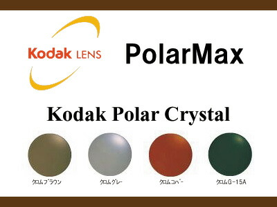 [レンズ]光学フィルムの技術を結晶!Kodak polarMAX ポラマックス偏光ガラスレンズKodak Crystal 平面度無し (2枚1組)(新品 正規品)