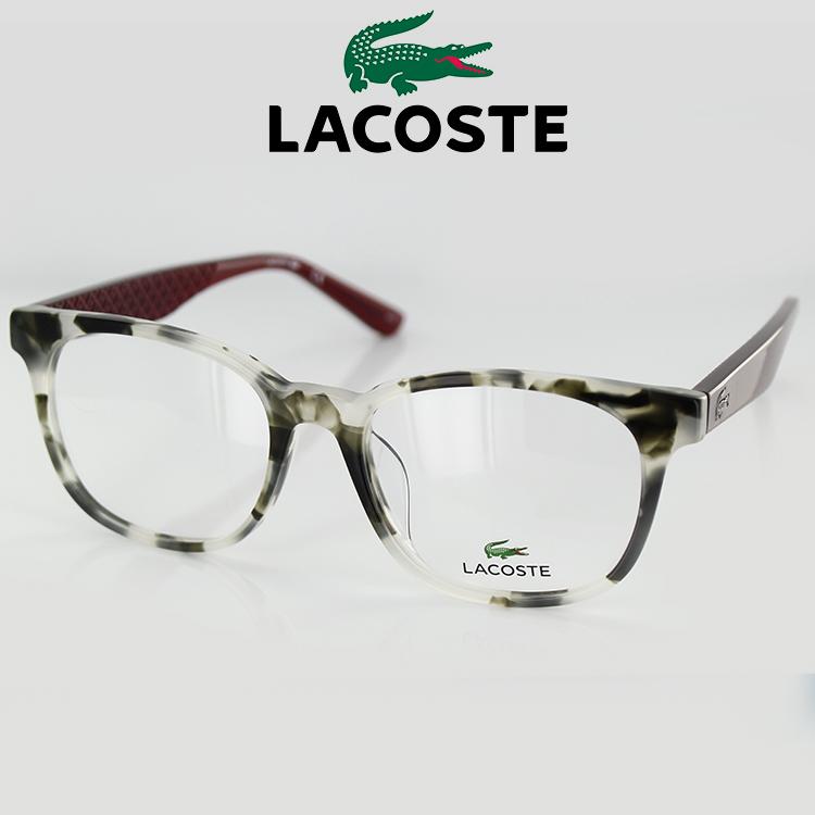 【送料無料】メガネ ラコステ 眼鏡 フレーム L2779A 220 52サイズ ウェリントン グレーハバナ ユニセックス 男女兼用 LACOSTE ワニマーク PC用メガネ伊達メガネ ブルーライトカット 度付き対応可 国内正規品