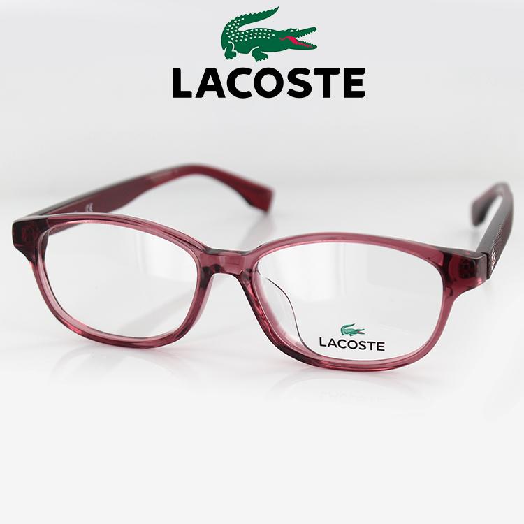 【送料無料】メガネ ラコステ 眼鏡 フレーム L2837A 52 52サイズ スクエア パープル ユニセックス 男女兼用 LACOSTE ワニマーク PC用メガネ伊達メガネ ブルーライトカット 度付き対応可 国内正規品